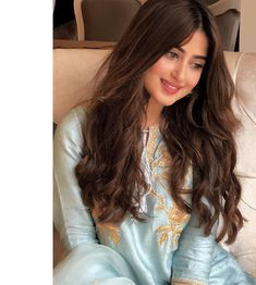 """Sajal Ali Firdous"" on Wadrobe Beautiful Pakistani Dresses, Pakistani Bridal Dresses, Pakistani Girl, Pakistani Actress, Pakistani Suits, Sajjal Ali, Prettiest Actresses, Bridal Makeup Looks, Stylish Girl Images"