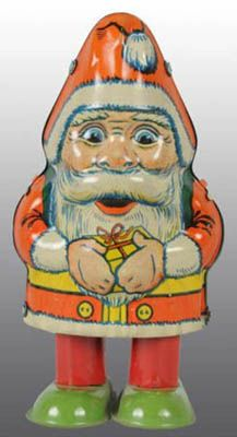 Christmas Collectibles Price Guide: Tin Chein Santa Claus Wind-Up Toy