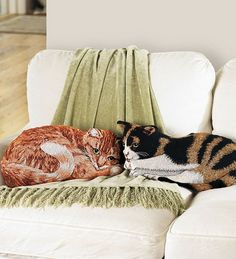 Cotton Jacquard Woven Tapestry Calico Cat Throw Pillow Best-Selling For The Home from Wind & Weather on shop.CatalogSpree.com, your personal digital mall.
