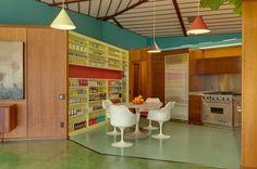 The Walker Residence - was the home of mid-century modern designer and builder Rodney Walker | More photos here - http://www.midcenturia.com/2011/09/walker-residence.html