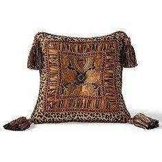 Scalamandre Le Zebre Rouge Left Facing Decorative Pillow - Frontgate