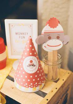 sock monkey party-