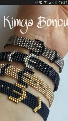off loom beading stitches Beaded Braclets, Seed Bead Bracelets, Seed Bead Jewelry, Bead Jewellery, Beaded Earrings, Jewlery, Loom Bracelet Patterns, Bead Loom Patterns, Beaded Jewelry Patterns