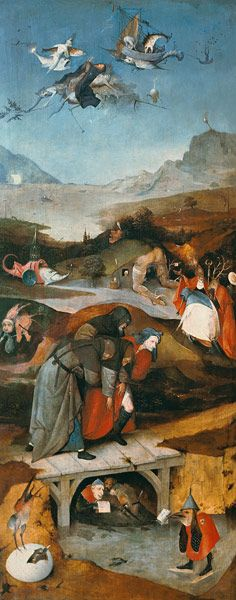 Temptation of St. Anthony (left hand panel) - Hieronymus Bosch (El Bosco) (1450-1516)