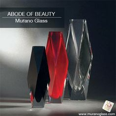 These vases embody nobility, luxury and beauty. Embellished by exclusively handmade decorations and engravings, these vases from #MuranoGlass truly makes for a perfect #weddinggift   Check for 'Vetro Artistico® Murano' seal of guarantee when buying a Murano glass product! Visit www.muranoglass.com