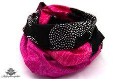 Patchwork-Loop in pink und schwarz von #Lieblingsmanufaktur