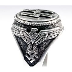 world war two rings | unique ring from the World War Two period – Waffen SS silver ring ...