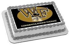 Wake Forest University Edible Birthday Cake Topper OR Cupcake Topper, Decor