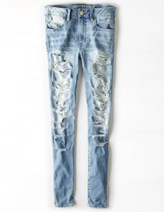 Shop American Eagle for Women's Jeans that look as good as they feel. Find high-waisted, skinny, curvy, cropped & jegging fits in new washes and stretch levels today! Denim Jeans, Cute Ripped Jeans, Jeans Pants, Mens Outfitters, American Eagle Jeans, Aeo, Boyfriend Jeans, Jeggings, American Eagle Outfitters