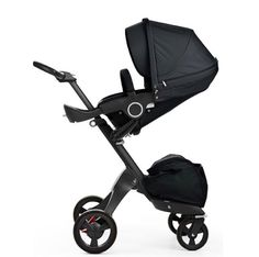 Why fit in when you were born to stand out? Stokke Xplory True Black Stroller