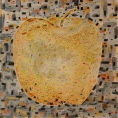 """The Gold Apple,"" original painting by artist  Lyudmila Arangelova BO (Bulgaria) available at Saatchi Art. #SaatchiArt"