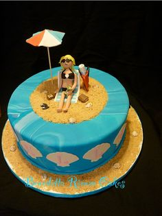 Beach themed cakes for women - Google Search