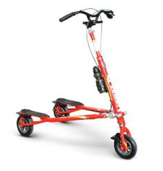 """Trikke Tech T8 Sport (Red) by Trikke. $649.99. Rubber grip mat - softer and more grip. Dimensions: 27.2 x 6.3 x 12.2 inches. Independent rear disc brakes. Brake levers with parking lock feature. Aircraft grade aluminum construction. Introducing the all new Trikke T8 Sport Air - Carve Diem Edition. The T8 has always been the """"Favorite Carving Fitness Machine"""". for over 10 years. With all the upgrades and different versions over the years Trikke has nailed it on this PRO Se..."""