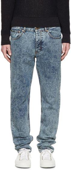 AMI Alexandre Mattiussi - Blue Acid Wash Jeans
