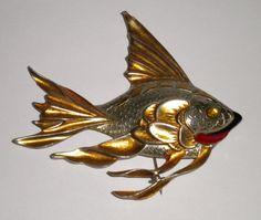 Asian Inspired 50's Brooch $24.75  Thymewarp