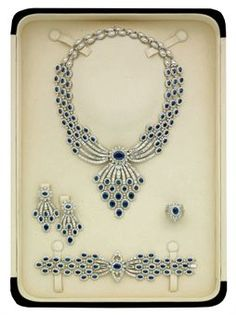 SAPPHIRE AND DIAMOND PARURE, BY ELIE CHATILA (photo Christie's)