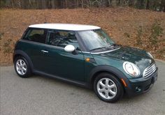 Mini Cooper - British Racing Green with White Mirrors & Top - Let's Motor!