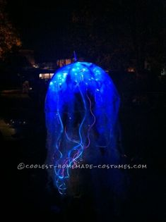 Cool Homemade Bio-Luminescent Jellyfish Costume ...This website is the Pinterest of costumes