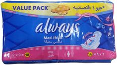 Always Pads Maxi Thick Long 18 Always Pads, Maxi Pads, Pop Tarts, Bath And Body, 18th, Health, Health Care, Salud