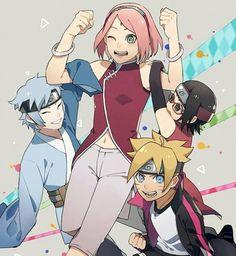 - [ ] Credit to owner Tags: Anime Naruto, Sarada E Boruto, Sasuke Sakura Sarada, Naruto Fan Art, Naruto Cute, Naruto Funny, Naruto Shippuden Sasuke, Naruto And Sasuke, Anime Manga