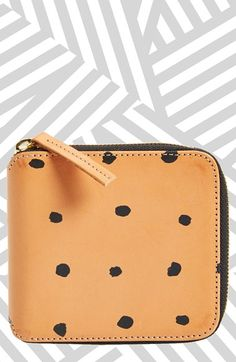 Clare V. Mini Dot Half Zip Wallet available at #Nordstrom