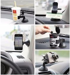Car-AUTO-ACCESSORIES-Universal-360-Rotating-Phone-Windshield-Mount-GPS-Holder