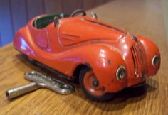 Vintage Schuco Examico 4001 Tin Wind Up Toy Car Made in Germany