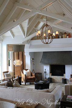 Pale ceilings - focal point of mantle piece/concealed TV or wood burner?
