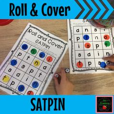 Roll and Cover SATPIN Game: This is a simple letter recognition game where students practice recognising the satpin letters. Perfect for satpin or alphabet review. Includes an uppercase and lowercase version.