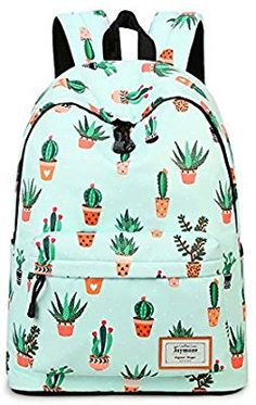 27f9d6b685 Joymoze Fashion Leisure Backpack for Girls Teenage School Backpack Women  Print Backpack Purse Cactus