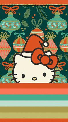Navidad Hello Kitty, Hello Kitty Art, Hello Kitty Pictures, Hello Kitty Items, Sanrio Hello Kitty, Hello Kitty Christmas Tree, Christmas Tree With Gifts, Christmas Cards, Hello Kitty Backgrounds