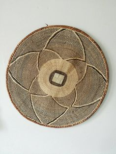 Boho Wall Hanging Rattan Decor Tribal Wicker Round Art African