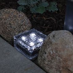 Frosted Glass Cool White Solar Brick Path Light with 4 LEDs Solar Garden Lanterns, Solar Fairy Lights, Solar Pathway Lights, Path Lights, Light Fixture Parts, Mason Jar Light Fixture, Mason Jar Lighting, Light Fixtures, Solar Light Chandelier