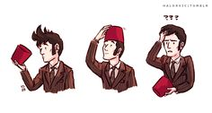 Poor Ten's hair looks so deflated in the teasers. This explains SO MUCH.  by Halorvic on Tumblr #doctor who #tennant #tenth doctor