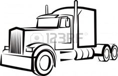 simple illustration with a truck Stock Photo Simple Illustration, Big Rig Trucks, Semi Trucks, Tow Truck, Camper Windows, Sous Bock, Truck Tattoo, Truck Coloring Pages, Photo Images