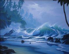 """Liquid Thunder"" #SurfArt by #ScottMunzig"