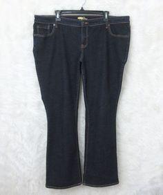 Womens OLD NAVY Dark Wash Stretch Denim THE DIVA Boot Cut Jeans Size 18 Short #OldNavy #BootCut