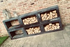 Concrete elements for garden inspiration - Concrete u elements for a wood surface . - Concrete elements for garden inspiration – Concrete u elements for wood storage. Backyard Projects, Outdoor Projects, Man Cave Shed, Backyard Beach, Wood Shed, Wood Surface, Wood Storage, Garden Inspiration, Firewood