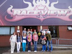 Some of the BasketsGalore Team arriving at #GoKarting
