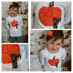 Check out this item in my Etsy shop https://www.etsy.com/listing/202446730/pumpkin-shirt-halloween-initial-hand