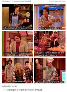 iCarly was the the best Nick show Funny Quotes, Funny Memes, Hilarious, Funny Tweets, Videos Funny, My Tumblr, Tumblr Funny, Series Da Nickelodeon, Victorious Nickelodeon