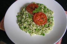 Mint and Green Pea Risotto, with Roasted Tomatoes Recipe on Food52 recipe on Food52