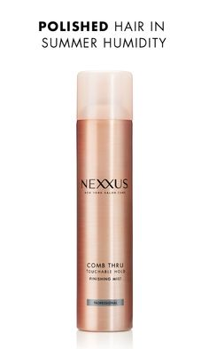 For hair that retains both polish and movement throughout your day, a lightweight spray like Nexxus Comb Thru Finishing Mist is a must-have. You'll get flexible control with body, bounce, and shine that feel completely natural. Put it to the test on a humid day for fly-away-free style that moves beautifully