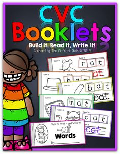 CVC Booklets! (Build it, Read it, Write it!)  Make mini-booklets with the most common 23 word families!