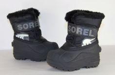 Kids Sorel Boots / Toddlers Waterproof Black Winter Snow Boots / Size 6 Medium