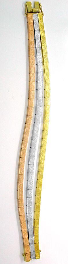 Foto 4, Designer-Armband Gelbgold Weissgold Rotgold Luxus! Neu!, K2846