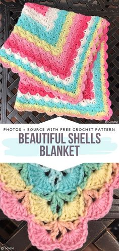 Darling Baby Blankets Free Crochet Pattern - Cozy Warm Crochet for Children # baby blanket crochet pattern Punto Zig Zag Crochet, Crochet Motifs, Easy Knitting Projects, Crochet Projects, Creative Knitting, Knitting Ideas, Free Knitting, Crochet Quotes, Baby Patterns
