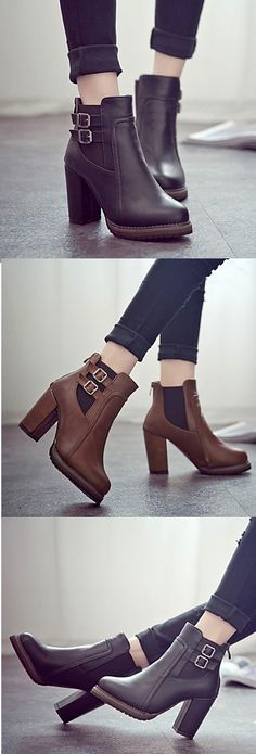 Retro boots for matching with more autumn outfits! Like or not? Get yours for $26.99! Enjoy discount in this item during our Autumn sale until October 3th!