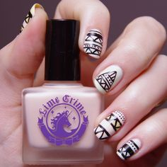 aztec nail art // bulleuw