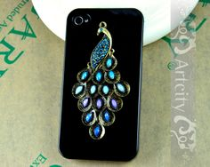 Iphone 4S case, Iphone 4 Case, Peacock Iphone Case. $8.99, via Etsy. @Michelle Velthuizen